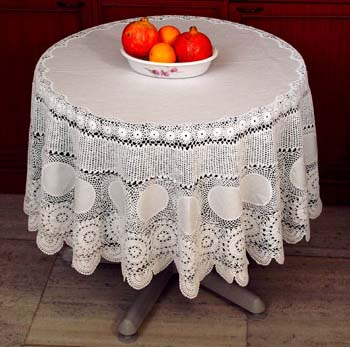 Totally Free Crochet Pattern Blog : KNITTED ROUND TABLECLOTH PATTERNS Free Knitting and ...